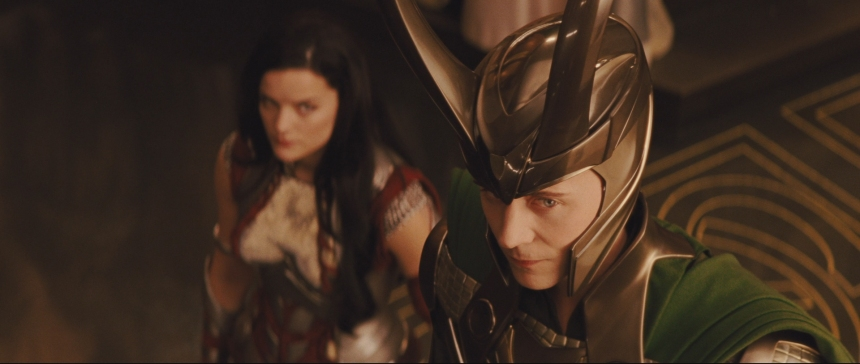 Loki and Thor as children and Thor's coronation.