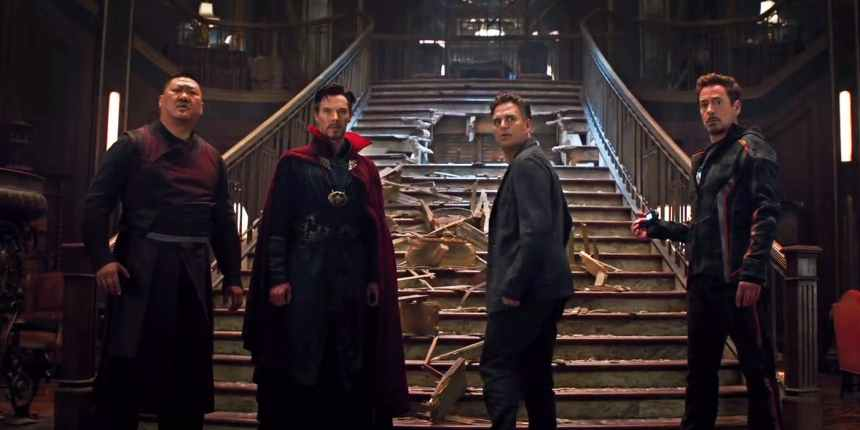 Tony-Stark-Bruce-Banner-Doctor-Strange-and-Wong-in-Avengers-Infinity-War